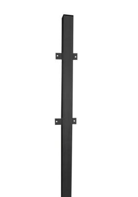 Столб заборный 50х50х2.4м/планка/профлист/