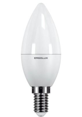 Лампа светодиод.7 Вт Ergolux C35 Е14 3000К 530Лм