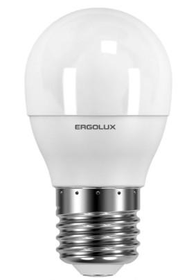 Лампа светодиод.7 Вт Ergolux G45 Е27 4500К 530Лм