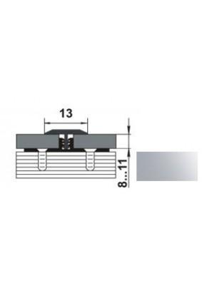 Профиль окантовочный Т-образный ПС 09.2700.01л (13мм анод сер)