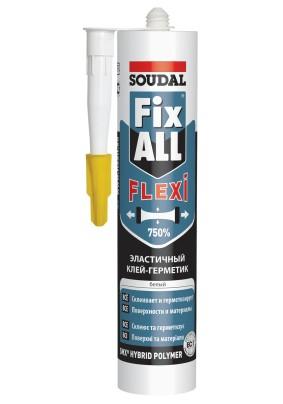 Клей-герметик FIX ALL Soudal белый/290 мл/117383/