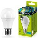 Лампа светодиод.10 Вт Ergolux А60 Е27 4500К 880Лм