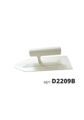 Кельма пластиковая 9х22см остроугольная белая/D2209B/