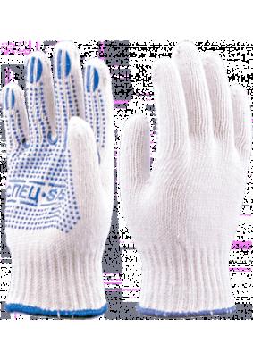 Перчатки трикотажные с ПВХ СПЕЦ-SB /белые/ Пер 007