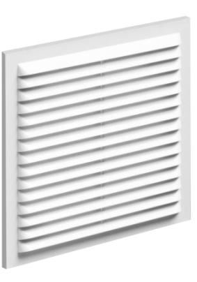 Решетка вент. вытяжная 190*290с рамкой ,белая 1929В
