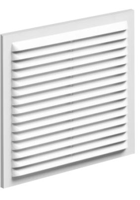 Решетка вент. вытяжная 230*230с рамкой ,белая 2323В