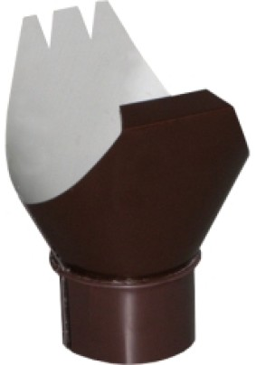 Воронка выпускная d=100 125мм RAL8017 Коричневый Металл