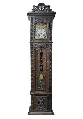 Часы антикварные напольные/циферблат золоч/коллекционные/Франция Бретонь 19 век