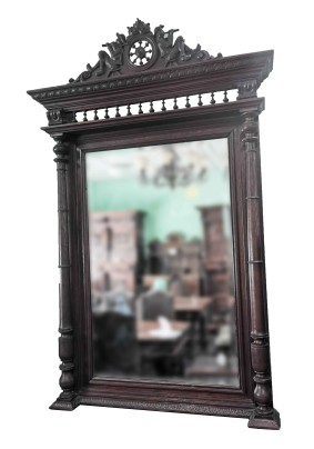 Зеркало антикварное /бретонский стиль/Бельгия конец 19 века/дуб/103*158*17 см