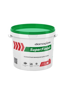 Шпатлевка финишная полимерная Danogips SuperFinish/5 кг/3 л/