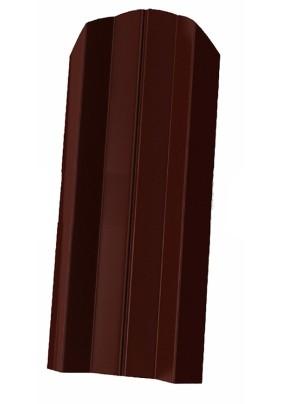 Штакетник М-образный фигурный 100х1500мм/ Коричневый/ RAL 8017/