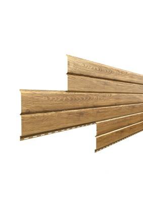 Металлосайдинг L-Брус 264х0,5мм/ Текстура/ Золотой дуб