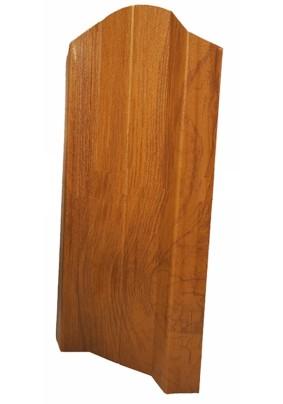 Штакетник М-образный фигурный 100мм/ EcoSteel/ Светлое дерево