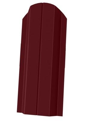 Штакетник П-образный фигурный 100мм/ Вишня/ RAL 3005/