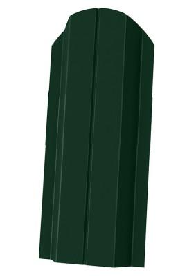 Штакетник П-образный фигурный 100мм/ Зеленый мох/ RAL 6005/