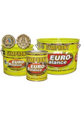 Краска интерьерная SYMPHONY euro-balance 2 супербелая глубокоматовая/9 л/14 кг/