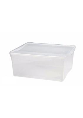 Ящик универсальный с крышкой Кристалл 40×33,5×17см 18л