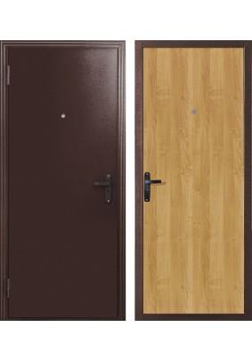 Дверь металлическая входная 060 металл/мил.орех 2050х850/левая
