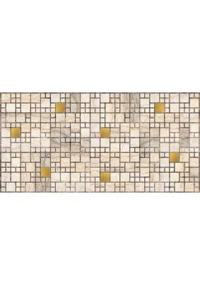 Панель ПВХ /955х480мм/Фартук Мозайка Мрамор с золотом