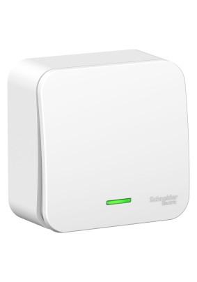 Выключатель 1 ОП/BLANCA/бел./подсветка/BLNVA101101 /