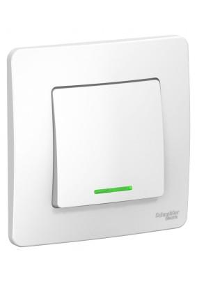 Выключатель 1 СП/BLANCA/бел./подсвет./BLNVS010111/