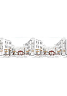 Панель ABS /3.0х0.6х0.0015м/Фартук Уличное кафе