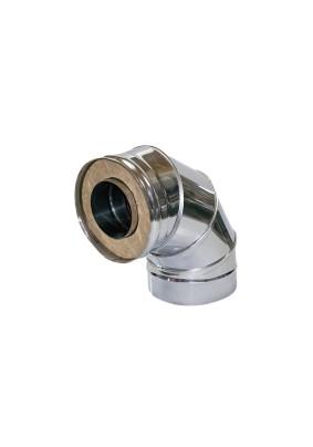 Двустенный отвод 90° 2ОТ90.115/200(430м05/оц05)