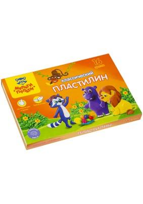 """Пластилин """"Мульти-Пульти"""" со стеком /16цв./320гр./236484/"""