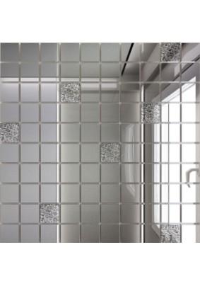 Мозаика зеркальная Серебро + Хрусталь С90Х10 ДСТ 25 х 25/300 x 300 мм