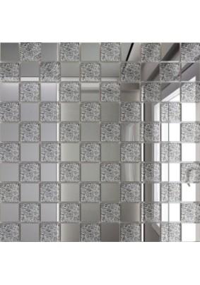 Мозаика зеркальная Серебро + Хрусталь С50Х50 ДСТ 25 х 25/300 x 300 мм