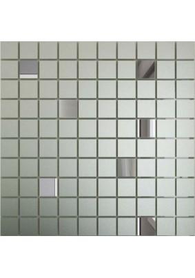 Мозаика зеркальная Серебро матовое + Графит См90Г10 ДСТ 25 х 25/300 x 300 мм