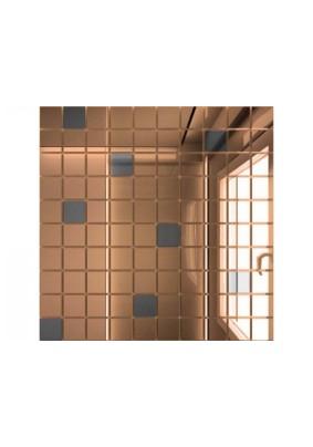Мозаика зеркальная Бронза + Графит Б90Г10 ДСТ 25 х 25/300 x 300 мм