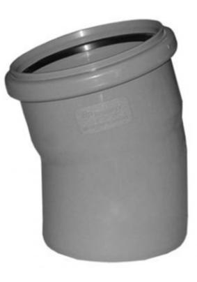 Отвод внутр. канализации Д 110  (15 гр.)