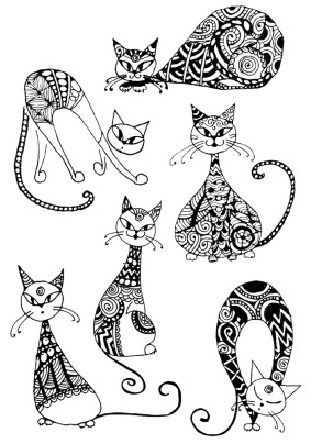 Наклейка Необычный кот НK 1005/Декоретто S