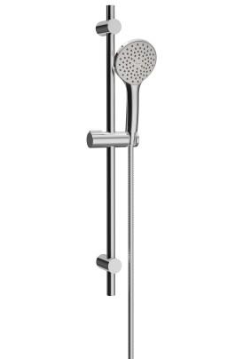 """Стойка д/душа """"Gem"""" /ручной душ 110 мм, 1 функции, штанга 700, шланг 1 750 мм, хром,/F0190000/"""