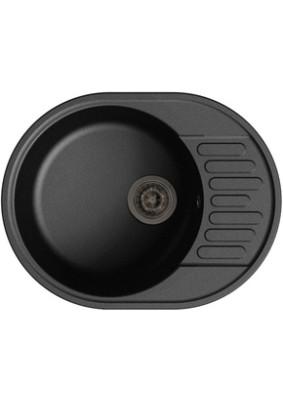 Мойка GranFest ЕСО-58, черный, чаша+кр 620*480 мм