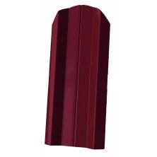 Штакетник/ М-образный фигурный 100мм/Вишня/ RAL 3005