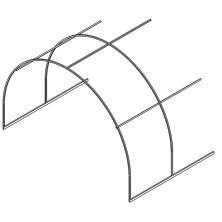 Удлинение ОЦ к каркасу теплицы