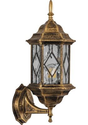 Светильник садово-парковый, 60W 230V E27 черное золото, PL121, 11343