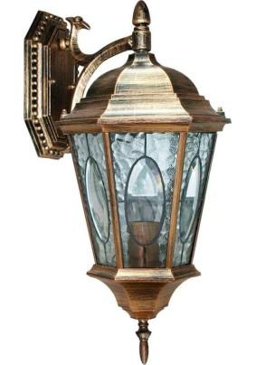 Светильник садово-парковый, 60W 230V E27 черное золото, PL151, 11320