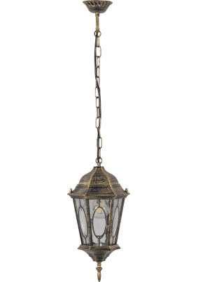 Светильник садово-парковый, 60W 230V E27 черное золото, PL164, 11331