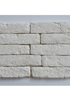 Кирпич романский белый Плитка гипсоцементная 6х26х1,5 /кратно уп=1м=62 шт/под=36м/