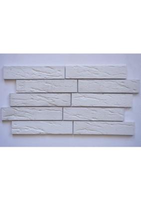 Кирпич немецкий белый Плитка гипсоцементная 5х24х1 /кратно уп=1м=69шт/под=60м/