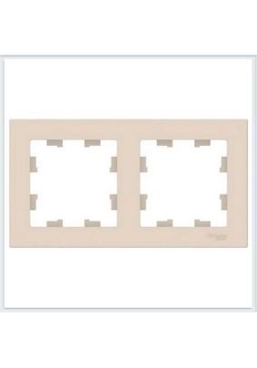 Рамка 2 ATLAS DESIGN беж. ATN000202
