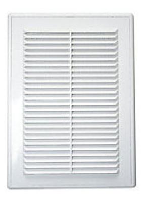 Решетка вентиляционная вытяжная 180*250 с сеткой, АВS- пластик, белая. Серия TRU