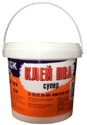 Клей ПВА супер KGK / 0,9 кг/
