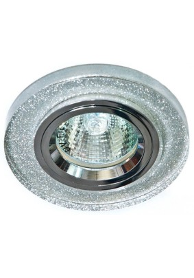 Светильник потолочный 8060-2 MR16 50W G5.3 мерцающее серебро 19708