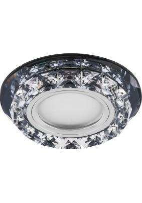 Светильник потолочный CD878 15LED*2835 SMD 4000K, MR16 50W G5.3, черный, прозрачный 28822