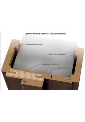 Коробка массив ольхи/Античный орех/33х70х2080 /