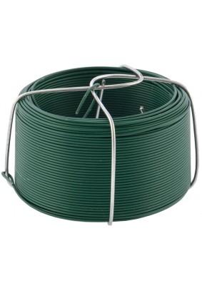 Проволока оцинк. в ПВХ зеленая 0,9мм, длина 50м Сибртех /47770/